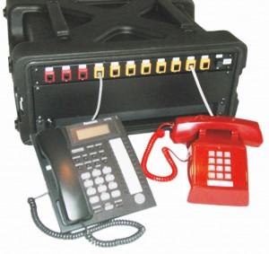 DTS1308P 3-line, 8-extension portable PBX telephone system