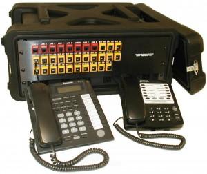 DTS1824P 8-line, 24-extension portable PBX telephone system